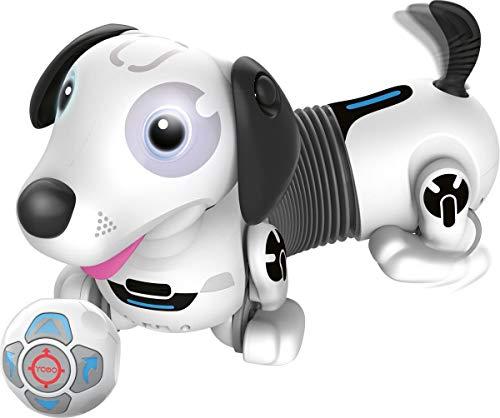 Silverlit- YCOO Robo Dackel 2-Chien Robot télécommandé ou Autonome-35 cm-Peut Courir Derrière Sa Balle-Jouet avec Effets Sonores Et Lumineux, 88586