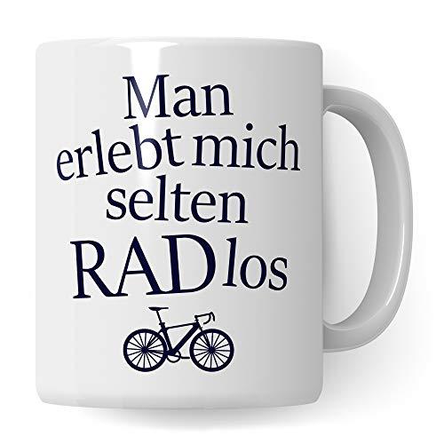 Pagma Druck Fahrrad Tasse lustig, RADlos Geschenk Fahrradfahrer Männer Frauen, Becher Fahrradmotiv...
