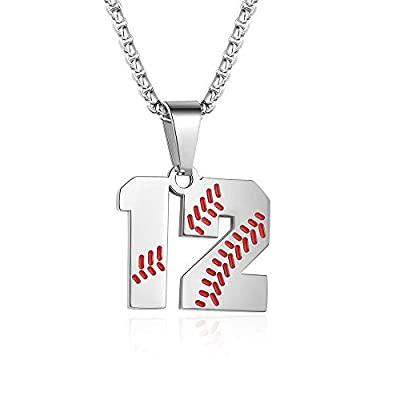 【POWERFUL & ELEGANT DESIGN】3,27,99 Number Necklace, Choose Your Own favorite Number, Support your favorite baseball player.Bring luck to you and him/her 【PREMIUM QUALITY & COMFORTABLE】Made from hypo-allergenic surgical grade 316L stainless steel for ...