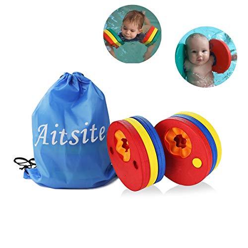 Aitsite Dischi Galleggianti, Aiuto alla Galleggiabilita da Nuoto per Bambini (6 Pezzi)