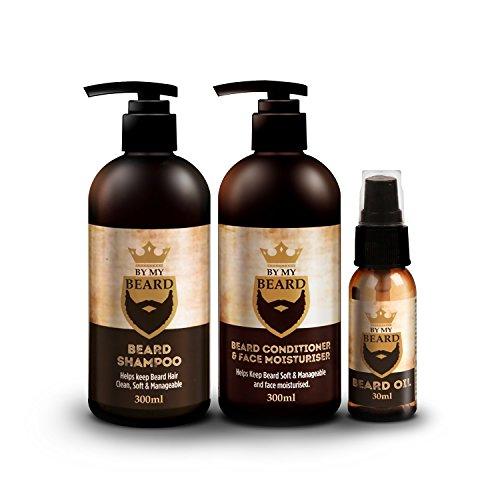 BE MY BEARD, confezione da tre prodotti, con shampoo e balsamo per barba e olio idratante per il viso (etichetta in lingua italiana non garantita)