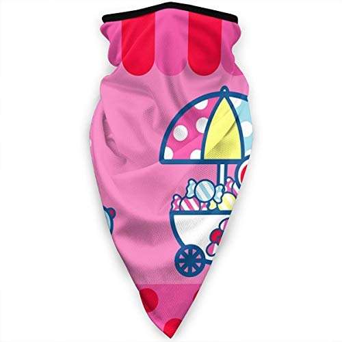 Hello Kitty Baby Shower Multifunctional Bandanas Face Mask Headband Scarf Headwrap Neckwarmer for Dust, Sports, Riding, Outdoors Black