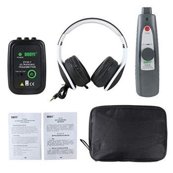 BELEY Détecteur de fuites à ultrasons et de l'émetteur, testeur de fuites du système de vide d'air et de pression de fluide dans l'eau