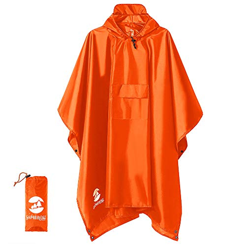 SaphiRose Multifunction Rain Poncho Waterproof Raincoat