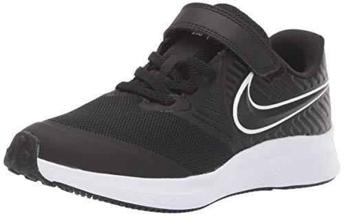 Nike Star Runner 2 (PSV), Zapatillas de Running, Negro (Black/White/Black/Volt 001), 34 EU