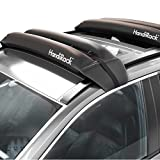 HandiRack - Universal Inflatable Roof Rack - Soft Roof Cargo Carrier for Cars & SUVs With or Without Rails - Quick Mount Cross Bars - Perfect for Kayaks, Canoes, Surfboards & Paddle Boards - Tie Down Straps and Bow & Stern Lines Included - Black