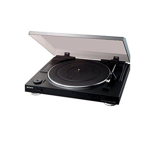 Sony PS-LX300USB Giradischi, Uscita USB per Conversione Digitale, Nero