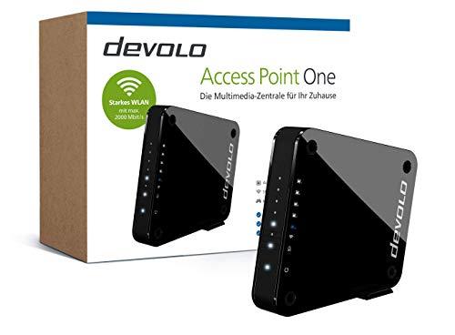 "devolo Access Point One Multimedia Allrounder ""WLAN Monster"" (WLAN AC bis 1733 Mbit/s, 1x Highspeed Gigabit-Port, 4X Ethernet Ports), schwarz"