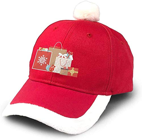 GGdjst Cappello di Natale, Christmas Gifts And Shopping Bags Christmas Santa Hats Unisex Party cap...
