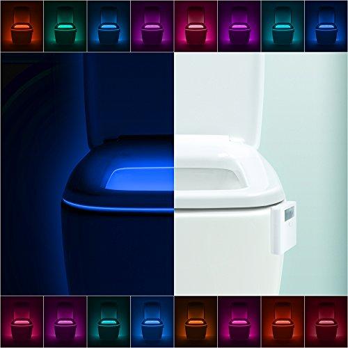 LumiLux Toilet Light Motion Detection - Advanced 16-Color LED...