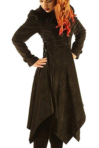 Eimee Women's Coat Gothic Jacket Vintage Corduroy Costume Victorian Flock Steampunk STP05