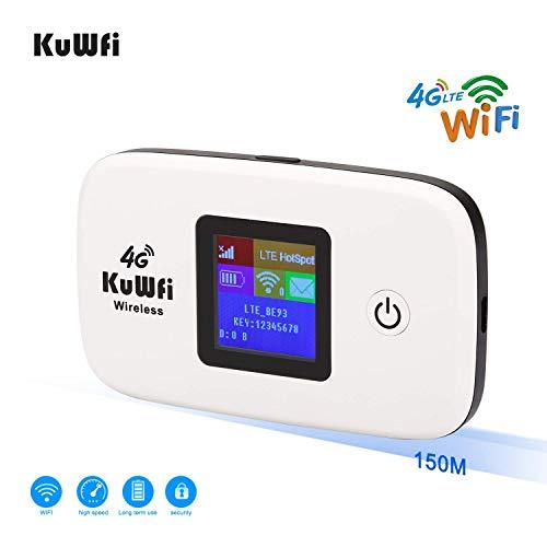 Router 4G con sim portatile,KuWFi Router 4G LTE...