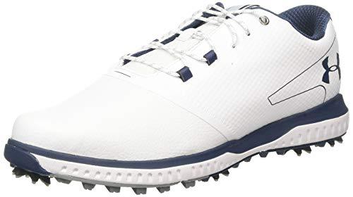 Under Armour Fade RST 2 E, Scarpe da Golf Uomo, Bianco (White/Steel/Academy 100), 41 EU