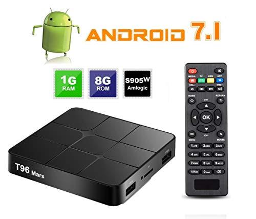 Android 7.1 TV Box, 2019 SeeKool Android Smart TV Box mit 1GB RAM 8GB , Amlogic S905W Quad Core CPU, unterstützt 4K Full HD H.265/ WiFi 2.4Ghz/ 100M LAN