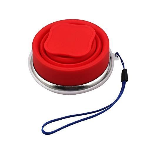 Incassable Tasse Couleur Camping Pliable avec Couvercle sans Mug...