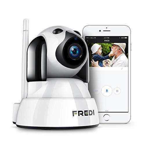 FREDI 1080P Telecamera di Sorveglianza Wifi Wireless Camera Interno Telecamera wi-fi senza fill con Controllo Remoto, Audio Bidirezionale, Notturna a Infrarossi Videocamera di sorveglianza
