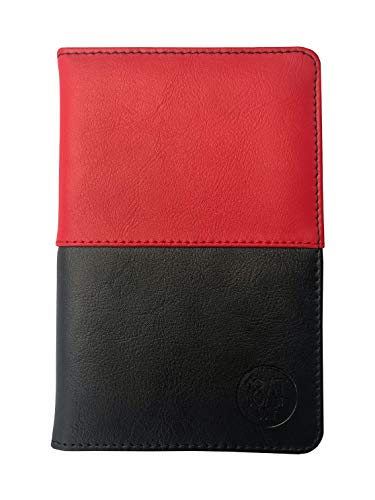 18AT Golf Leather Scorecard Holder, Pocket Sized with Pencil. Designed to Fit All Scorecards