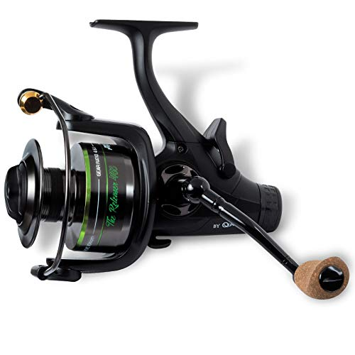 Quantum Mr. Pike The Releaser 460 - Mulinello a ruota libera, colore: Nero/Verde