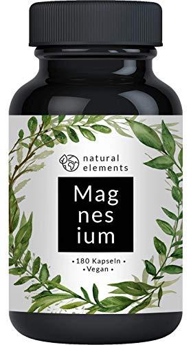 Premium Magnesiumcitrat - 2250mg davon 360mg elementares Magnesium pro Tagesdosis - 180 Kapseln - Laborgeprüft und hochdosiert