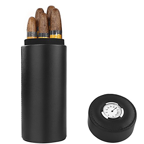 Ipay cigare, cèdre bois doublé voyage portable cuir cigare Humidor avec...