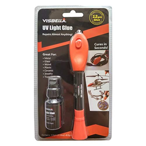 UV Light Curing Glue Liquid Plastic Welder Adhesive Kit 5 Seconds Fix/Fill/Seal/Bond/Repair Almost Anything - Waterproof and Heat-Resistant-(4g+8g Refill)