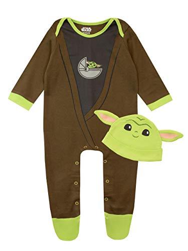 Star Wars Tutina da Notte e Cappello per Bambino The Mandalorian Baby YodaMulticolore 9-12 Mesi