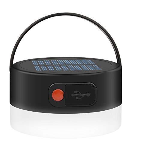 Beinhome Lanterne de camping - Lampe solaire rechargeable et étanche - 4...