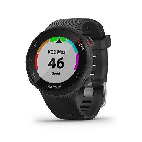 Garmin Forerunner 45S GPS Running Watch with Coach Training Plan Support - Black, Small
