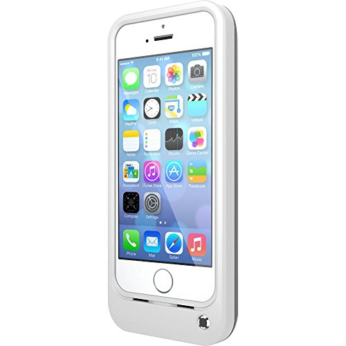 OtterBox Resurgence Power/BatteryCase for Apple iPhone 5s - Retail Packaging - Glacier White/Gunmetal Grey