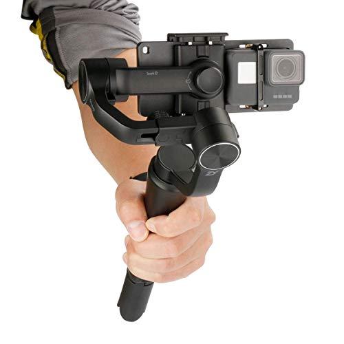Linghuang Adattatore Piastra per DJI Osmo Action/GoPro 3/3 +/4/5/Yi cam 4K/SJCAM Fotocamera Stabilizzatore Portatile Gimbal Accessori