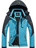 GEMYSE Women's Mountain Waterproof Ski Snow Jacket Winter Windproof Rain Jacket (Acid Blue, M)