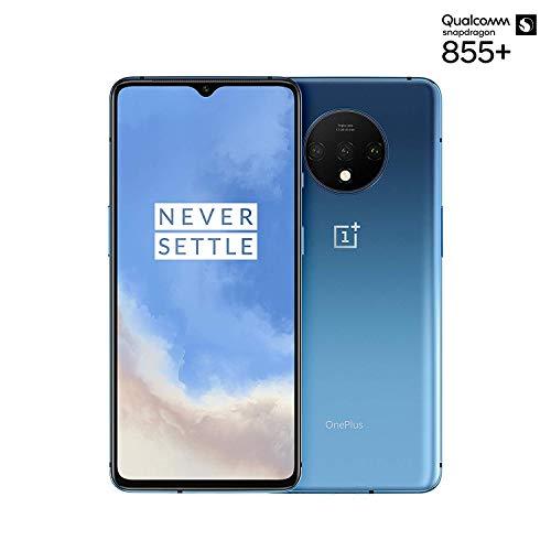 OnePlus 7T - Smartphone Débloqué 4G (Ecran 6,55 pouces - 8Go RAM - 128Go Stockage - Ecran Amoled 90 Hz) Glacier Bleu [Version française]