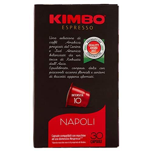 Kimbo Capsule Napoli Compatibili Nespresso - 8 Astucci da 30 Capsule (Totale 240 Capsule)