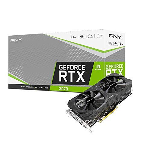PNY VCG30708DFMPB - Tarjeta Gráfica GeForce RTX 3070 8GB Uprising Dual Fan