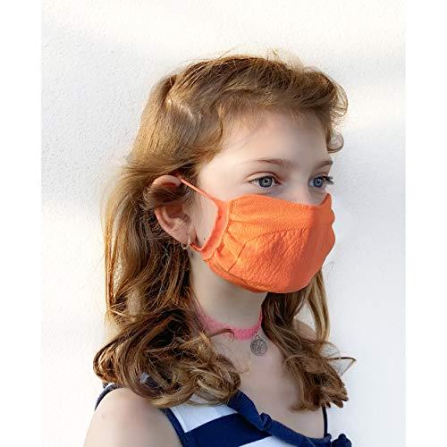 4 Pezzi Mascherina Junior filtrante lavabile, doppio tessuto sagomato, microfibra poliammide ed elastan, trattamento...