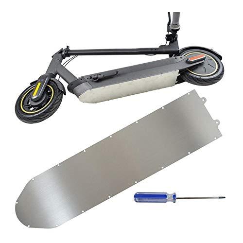 SSG Hot Plate Scooter eléctrico chasis de Aluminio Protección Guardia Metal Armor Inferior de la batería Cubierta Protectora en Forma for Ninebot MAX G30