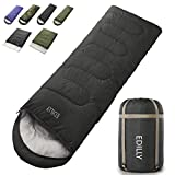 EDILLY Camping 4 Seasons Sleeping Bags for Adults and Kids, Warm Cold Weather Lightweight, Portable, Waterproof Backpacking Sleeping Bags Perfect for Hiking Traveling,Indoor & Outdoor Use (Dark Grey)