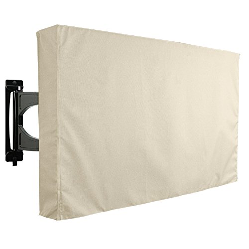 KHOMO GEAR Outdoor TV Cover - Sahara Series - Universal Weatherproof Protector for 55 - 58 Inch TV - Fits Most Mounts & Brackets