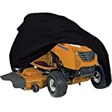 Szblnsm Waterproof Riding Lawn Mower Cover - Heavy Duty 420D Polyester Oxford Tractor Cover Fits Decks up to 54', UV Protection Universal Fit with Drawstring Storage Bag
