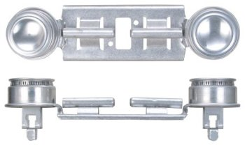 GE WB29K17/WB16K10026 Gas Range Double Burner Assembly