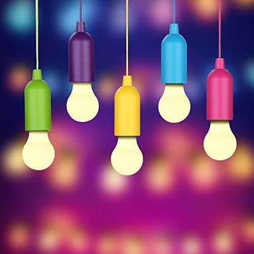 LED Lampada, Rottay Handy Lux Colors 5 Pezzi LED Lamp per Pesca, Campeggio, Tenda, Festa, da Esterno...
