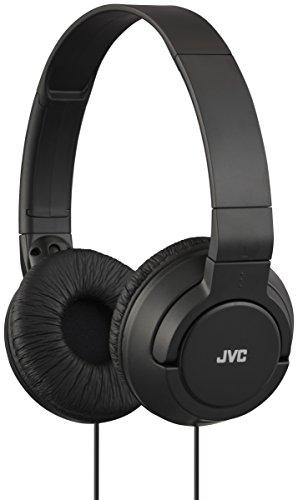 JVC HA-S180-B-E - Auriculares de Diadema Cerrados con Cable de 1,2m. Cascos Plegables y Ligeros con Sonido de Alta Calidad y Sistema Deep Bass. Color Negro.