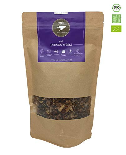 eat Performance® Schoko Müsli (325g) - Bio, Paleo, Glutenfreies Granola Aus 100% Natürlichen Zutaten