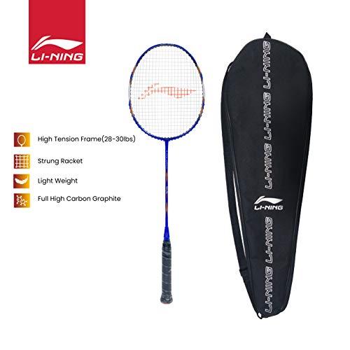 Li-Ning SS-21-G5 Strung Badminton Racquet ( WHITE/GREY , S1 , 85-87 grams , 28-30 lbs )