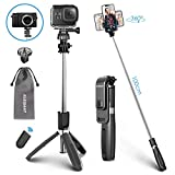 ELEGIANT Perche Selfie, Selfie Stick Bluetooth Trépied Bluetooth Bâton de...