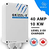Grizzl-E Level 2 EV Charger, 16/24/32/40 Amp, NEMA 6-50/14-50 Plug, 18 feet/24 feet Premium/Regular Cable, Indoor/Outdoor Car Charging Station (Premium Cable - Avalanche Edition)