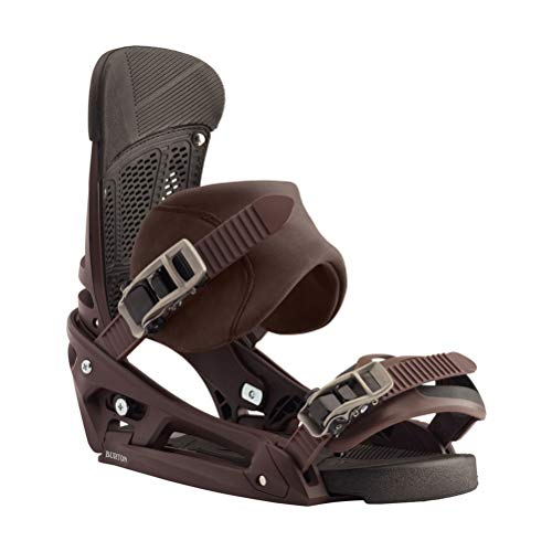 Burton Malavita EST Leather Snowboard Bindings Mens Sz L (10+) Deep Cognac