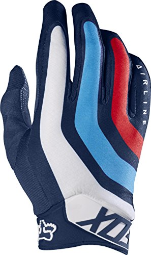 Fox Racing Airline Seca Adult MotoX Motorcycle Gloves - Navy / Large