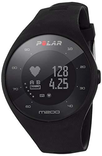 Polar M200, Orologio GPS con Cardiofrequenzimetro Integrato, Monitoraggio attivit Fisica e Sonno Unisex-Adulto, Nero, M/L