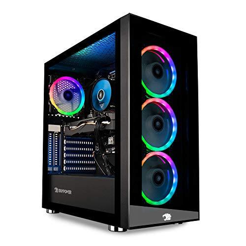 iBUYPOWER Pro Gaming PC Computer Desktop Element MR 208i (Intel i7-11700F 2.5GHz,NVIDIA GeForce RTX 2060 6GB, 16GB DDR4, 240GB SSD, 1TB HDD, WiFi Ready, Windows 10 Home)